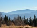 Widok z Leskowca w kierunku Babiej Góry