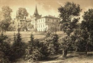 Zamek w Zatorze - Zamek na litografii Napoleona Ordy, 'Album Widoków', Seria 6, 1880.