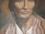 Portret Papuszy (reprodukcja obrazu Krystyny Jóźwiak - Gierlińskiej). Autor: Krystyna Gierlinska. Źródło: Wikipedia