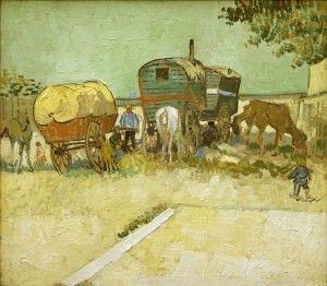 Obozowisko Cyganów z Caravans, Vincent van Gogh