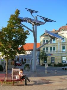 Fotowoltaiczne 'drzewo' w Styrii, Austria