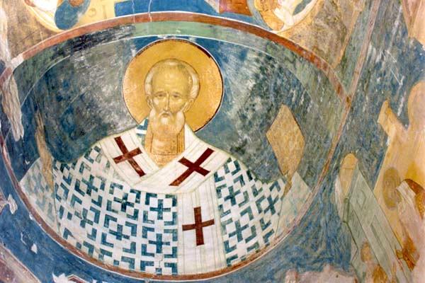Święty Mikołaj w Monasterze Terapontowskim w Rosji