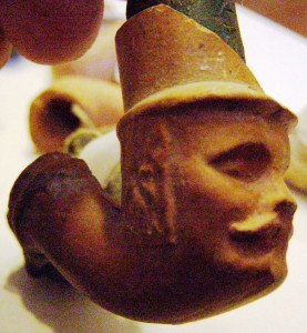 Główka fajki w kształcie głowy Galicja Małopolska