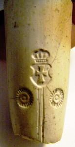 Fajka galicyjska z białej glinki Małopolska