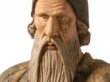 Rzeźba proroka Symeona, któremu wg legendy Jan Wnęk nadał swoją twarz (Muzeum Etnograficzne w Krakowie)