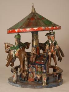 Karuzelka drewno polichromowane Wyk. Antoni Mazur, 2005 r. Nr inw. 79370/MEK Fot. Jacek Kubiena
