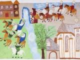 Legenda o św. Kunegundzie - Anna Liber, 1999 r.(papier, tempera) Ze zbiorów Muzeum Etnograficznego im. S. Udzieli w Krakowie, fot. Marcin Wąsik.