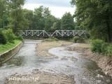 Rzeka Wieprzówka w miejscu gdzie wpływa do miasta.