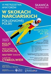 plakat, zawody w Skawicy