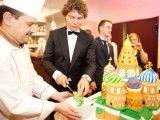 Tak wyglądał Tort, który został zaprezentowany na Balu Sympatyków Języka Rosyjskiego.