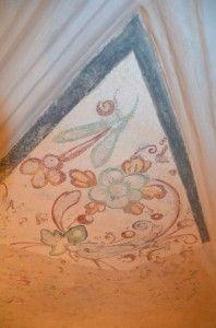 Fragment fresków na sklepieniu prezbiterium, po konserwacji estetycznej.