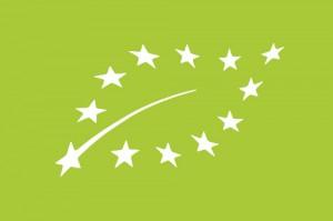 Logo certyfikatu dla producentów produktów ekologicznych w UE.