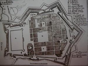 Plan Twierdzy Zamość z drugiej połowy XVII w.
