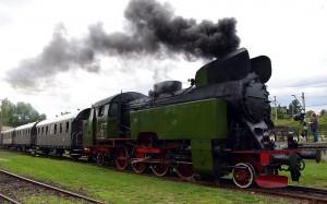 Chabówka, skansen  taboru kolejowego, parowóz