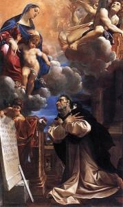 Św. Jacek  na obrazie Ludwika Caracciego.