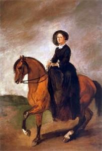 Celina Michałowska na koniu