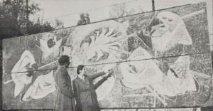 """Dzieło """"Era żelaza"""". Foto: archiwum rodziny Husarskich"""
