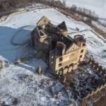 Klasztor w Zagórzu z lotu ptaka.