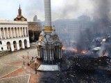 Plac Niepodległości w Kijowie (Majdan) przed zamieszkami i w ich trakcie. Foto: Olga Yakimovich.
