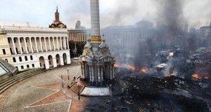 Kijów Majdan przed i po zamieszkach