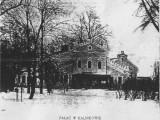 Pałac w Kalnikowie na starej pocztówce.