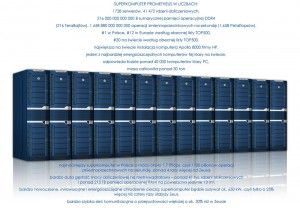 superkomputer Prometheus wizualizacja i dane liczobe