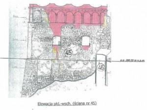 zamek Tenczyn rekonstrukcja zabezpieczeenie 2016