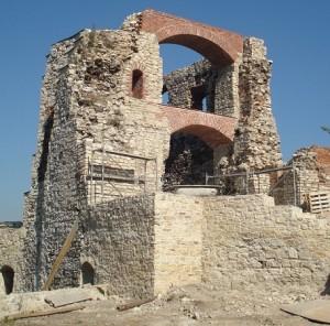 zamek Tenczyn rekonstrukcja zabezpieczenie 2016