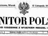 Odzyskanie niepodległości okiem Monitora Polskiego z 12 listopada 1918