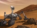 Łazik Curiosity na Marsie - ilustracja