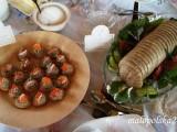 Pasta z wędzonym karpiem i karp zrolowany. Foto: Grażyna Kubiak.