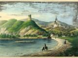 Baszta w Czchowie. Llitografia wg rys. A. Gorczyńskiego, 1837-1838.